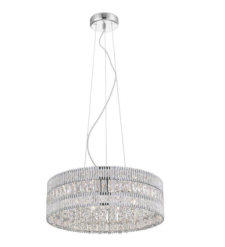 Kryształowa dekoracyjna  lampa wisząca Felicia do salonu sypialni jadalni nad stół okrągła