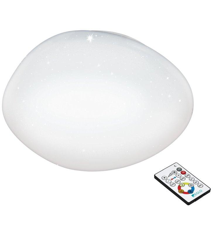 Plafon Sileras 450 biały okrągły z pilotem zmiana barwy światła ściemniacz 4 stopniowy efekt błyszczenia