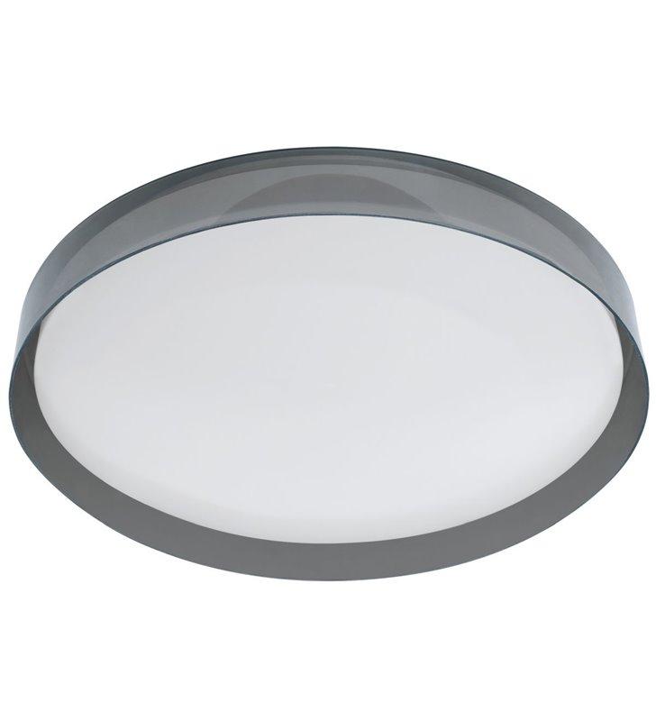 Czarny transparentny nowoczesny plafon sufitowy Regasol 430 regulacja barwy światła 2700-5000K