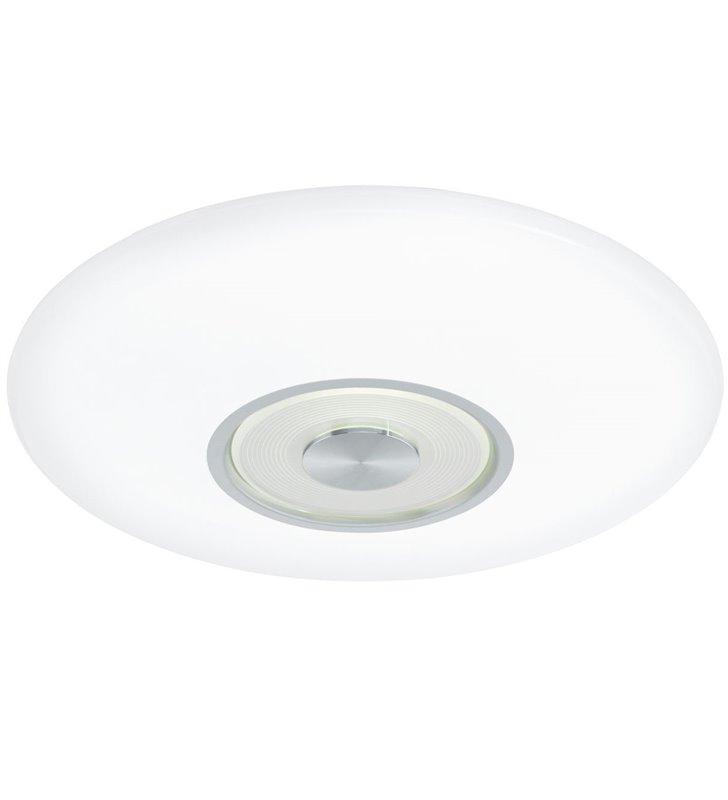 Plafon Canuma1 LED 38cm okrągły biały wykończenie w kolorze aluminium barwa światła od ciepłej do chłodnej tryb nocny