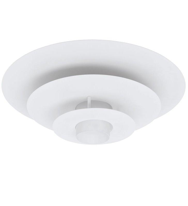 Plafoniera Pollutri 50cm biała okrągła 1 żarówka E27 do salonu sypialni na przedpokój