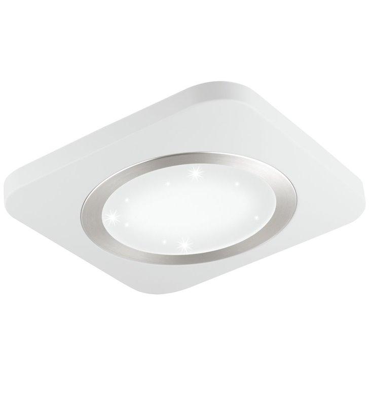 Nieduży plafon Puyo-S LED 30cm kwadratowy biały efekt blasku po włączeniu do salonu sypialni jadalni na przedpokój