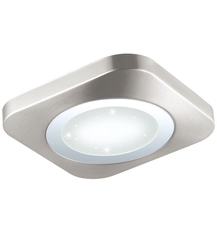 Kwadratowy płaski plafon LEDowy Puyo-S 400 efekt blasku po włączeniu