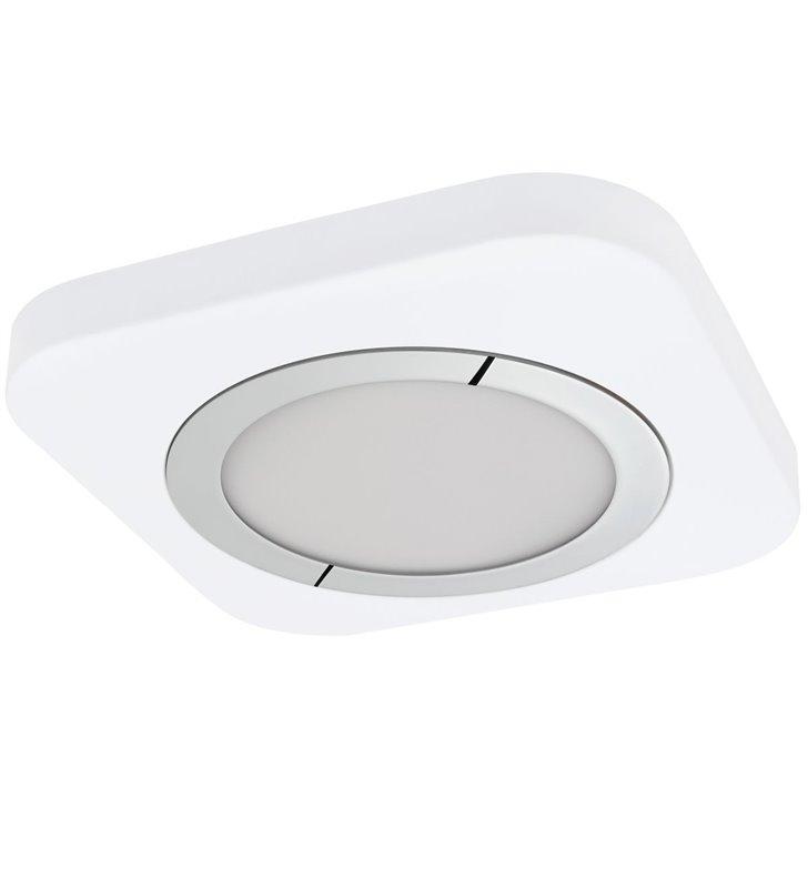 Biały plafon 30cm Puyo LED kwadratowy ciepła barwa światła