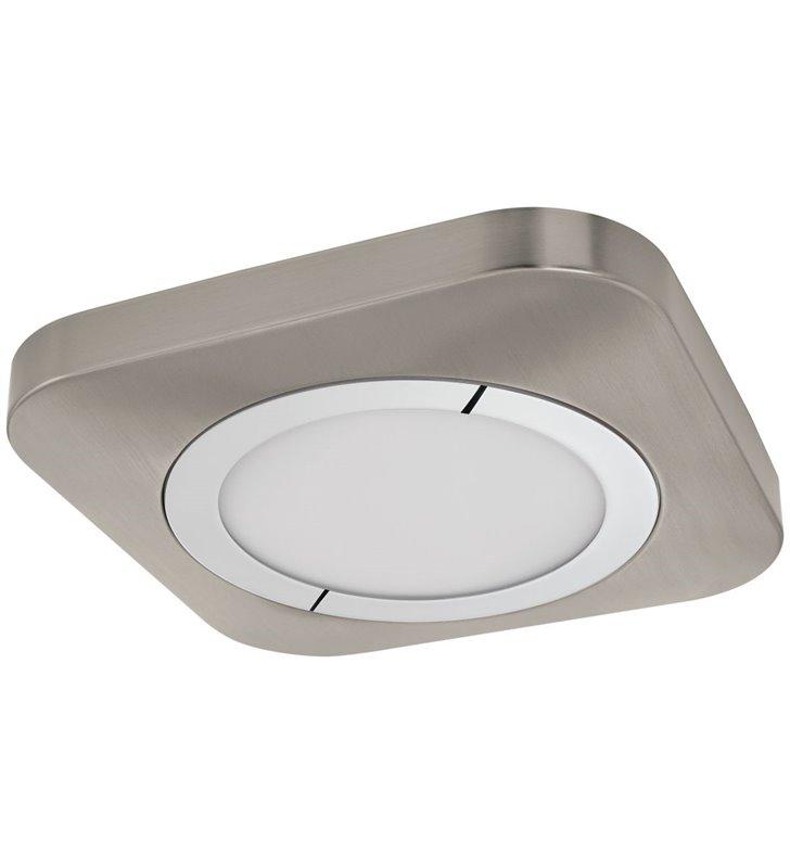 Plafon 40cm Puyo LED kwadratowy płaski nikiel satynowany ciepła barwa światła