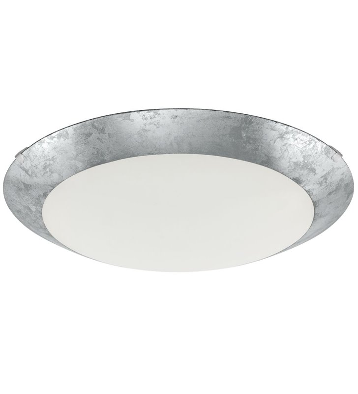 Plafon Montenovo srebrny okrągły szklany 39cm LED