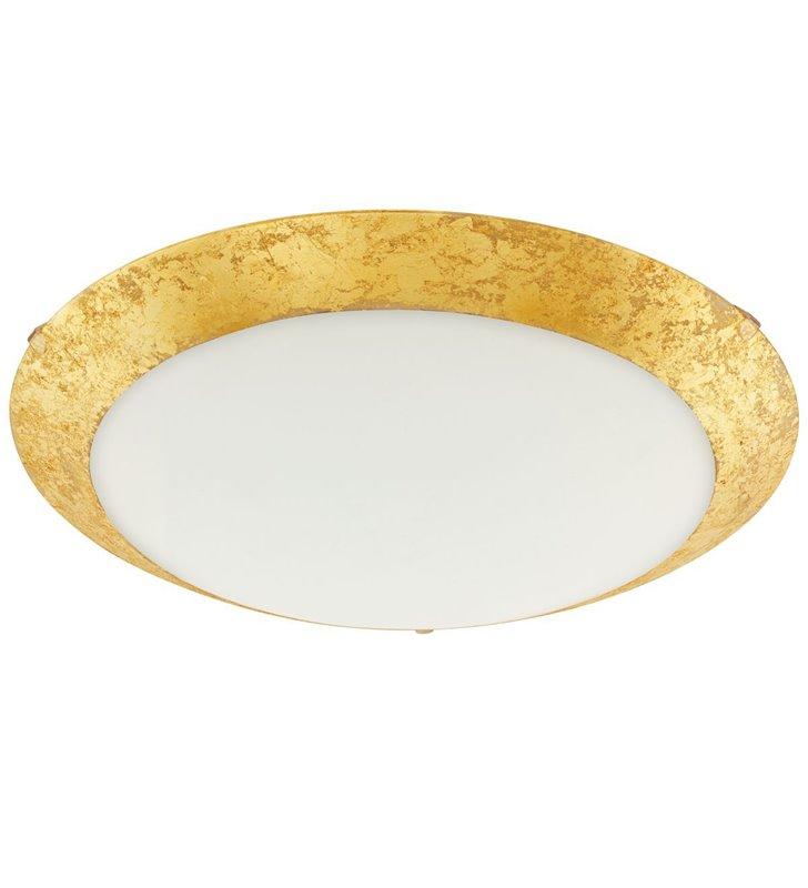 Plafon Montenovo LED złoty szklany okrągły 39cm