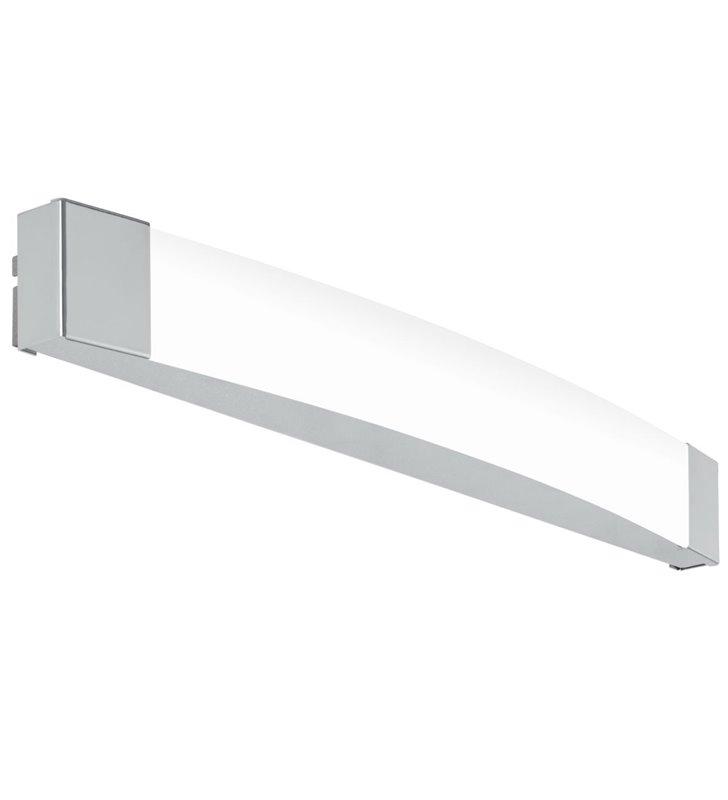 Podłużny nowoczesny kinkiet do oświetlenia lustra w łazience Siderno LED chrom 58cm IP44 4000K