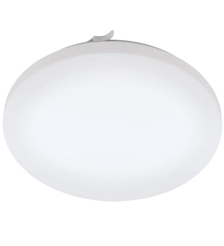 Biały okrągły plafon łazienkowy Frania IP44