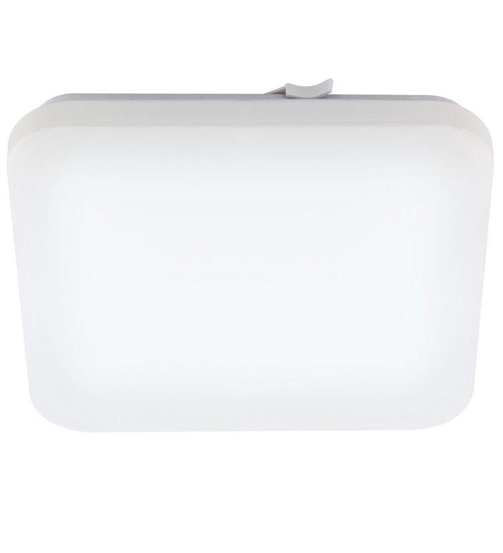 Biały kwadratowy plafon łazienkowy z tworzywa Frania IP44