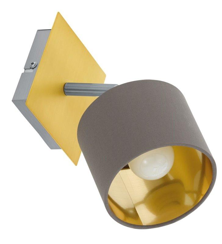 Lampa ścienno sufitowa Valbiano mosiądz szczotkowany abażur w kolorze cappuccino