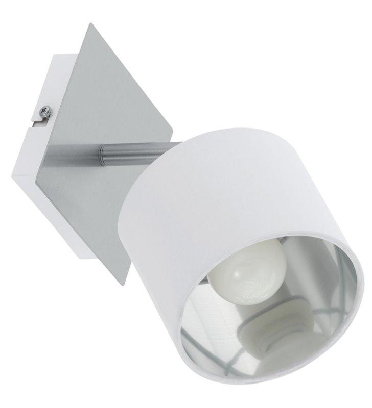 Lampa ścienno sufitowa z białym abażurem Valbiano