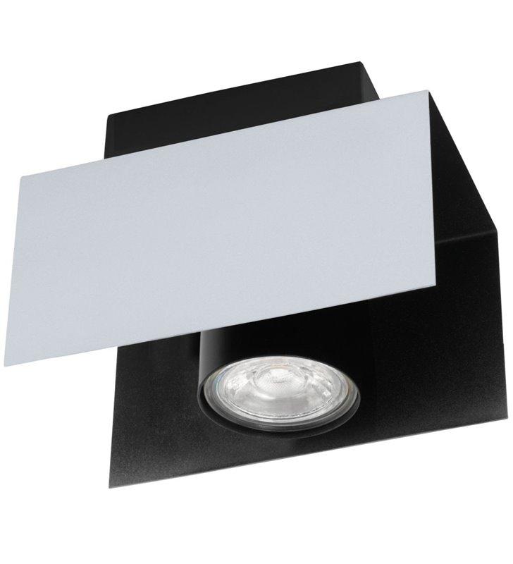 Lampa sufitowa Viserba nowoczesna w kolorze białego aluminium z czarnym wykończeniem