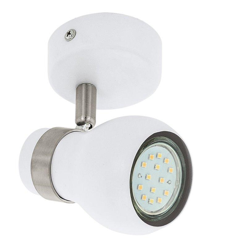Arboledas lampa ścienno sufitowa biała z niklowanym wykończeniem