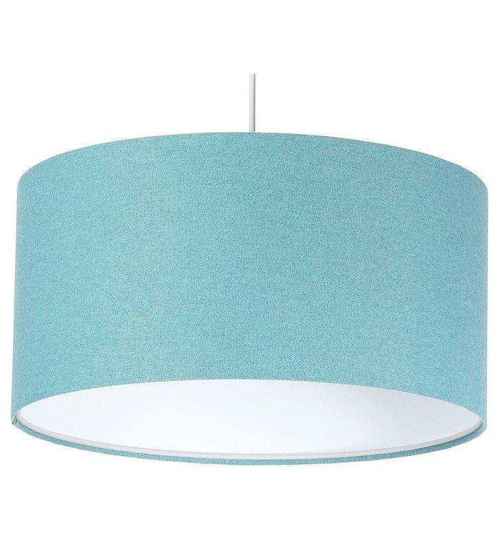 Lampa wisząca Fornax turkusowa abażur wykonany z filcu