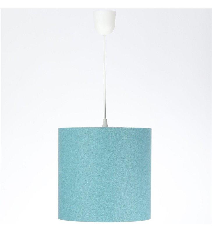 30cm turkusowa lampa wisząca Fornax abażur tkanina filcowa