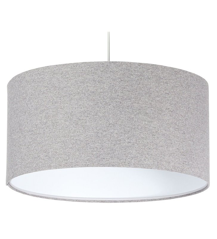 Szara lampa filcowa wisząca Fornax 50cm do salonu sypialni kuchni jadalni nad stół