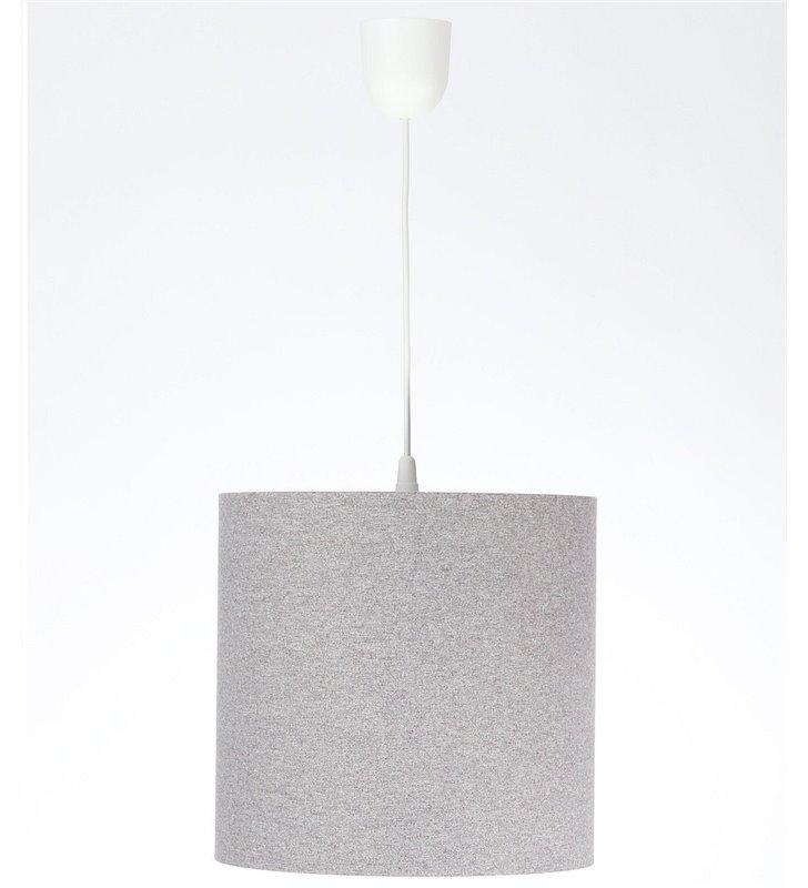 Szara 30cm lampa wisząca Fornax wykonana z filcu
