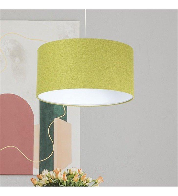 Lampa wisząca Fornax średnica abażura 50cm zielona z filcu do salonu sypialni kuchni jadalni nad stół