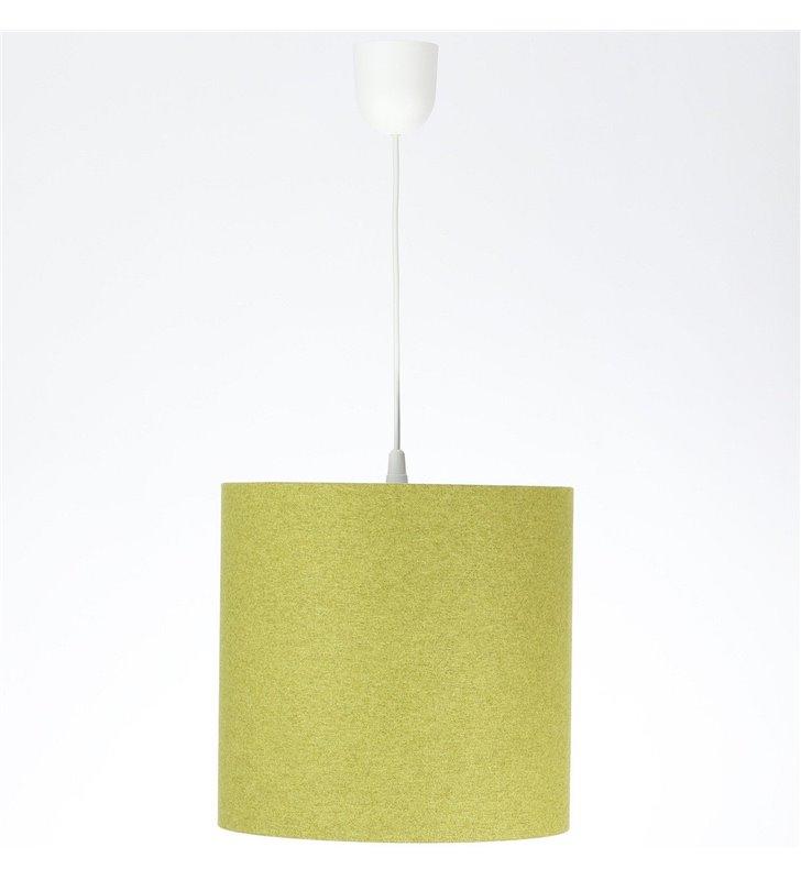 Lampa wisząca Fornax abażurowa 30cm zielona wykonana z filcu