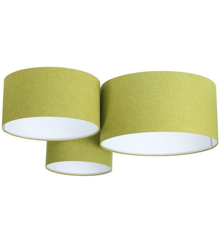 Duży plafon z filcu Fornax zielony 3 abażury 30 40 50cm do salonu sypialni jadalni pokoju dziennego