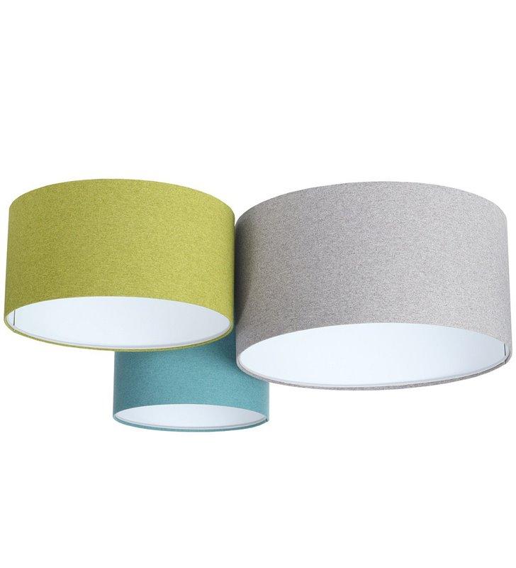 Plafon z filcu Fornax Mix 3 kolorowy abażury 30 40 50cm duży do salonu sypialni jadalni pokoju dziennego