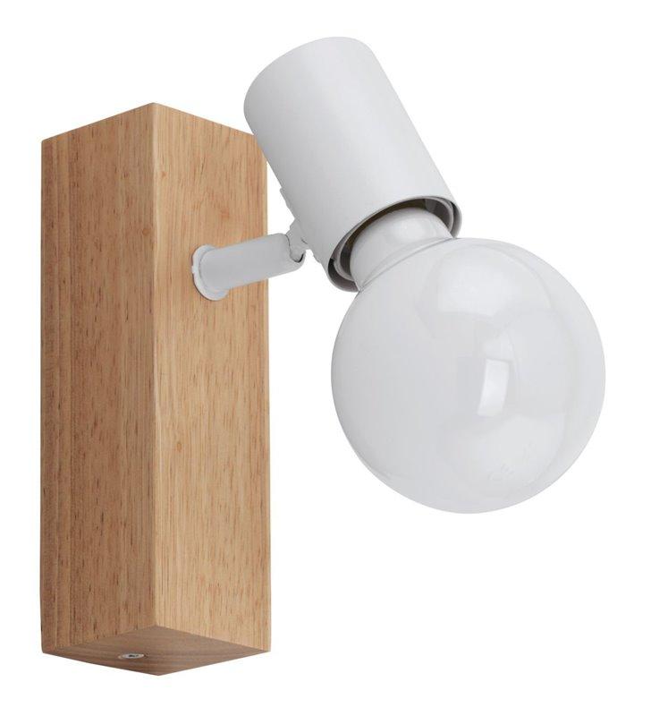Pojedynczy drewniany kinkiet Townshend3 minimalistyczny