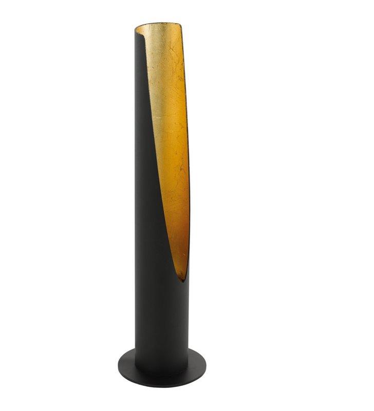 Lampa stołowa Barbotto czarno złota metalowa tuba nowoczesna
