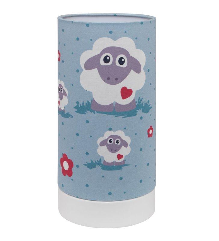 Lalelu kolorowa lampka stołowa nocna do pokoju dziecięcego z owieczkami