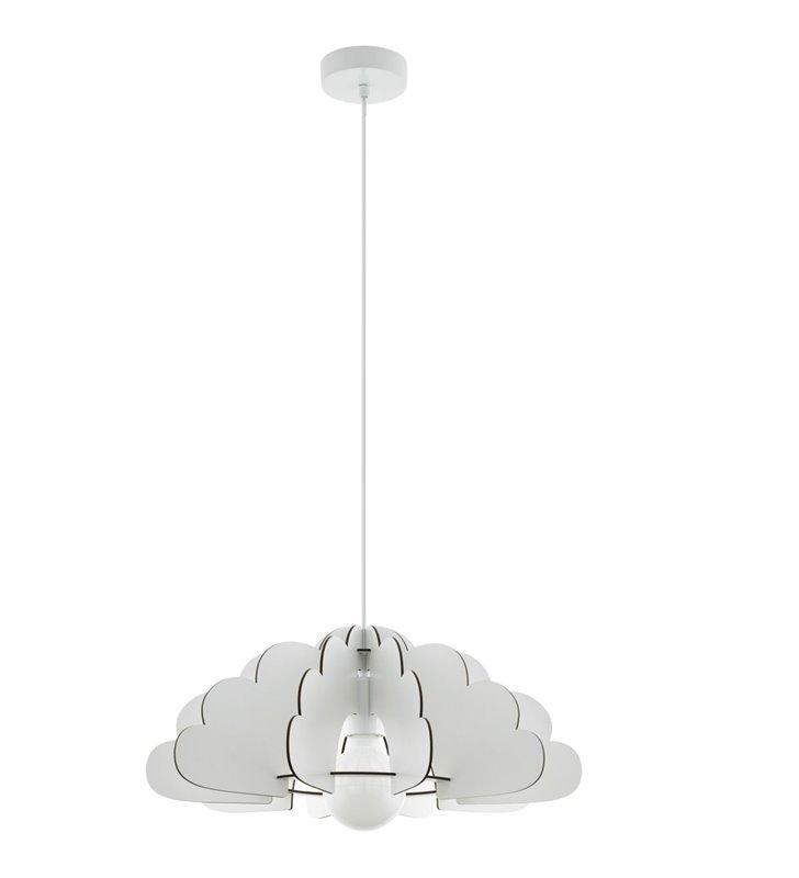 Lampa wisząca Chieti biała drewniana chmurka do pokoju dziecka