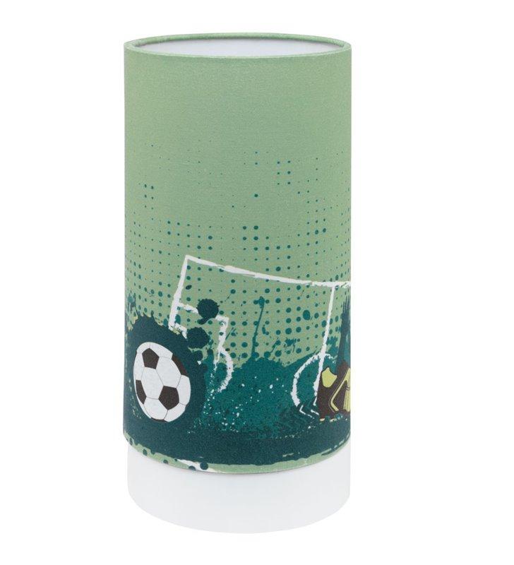 Lampka stołowa nocna do pokoju chłopca piłka nożna Tabara