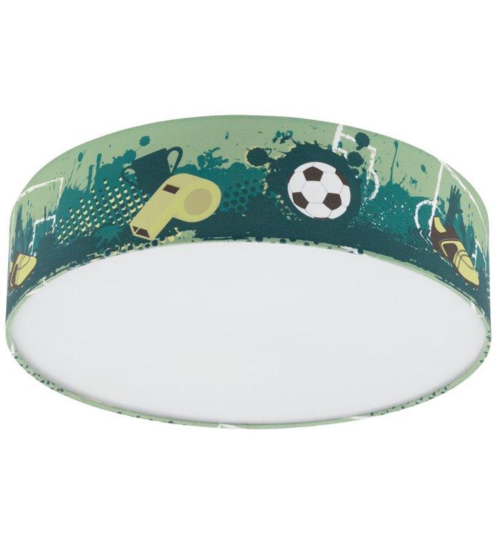 Tekstylny okrągły plafon chłopięcy piłka nożna Tabara 38cm