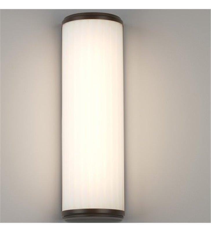 Kinkiet łazienkowy Monza LED 40cm brązowy ze szklanym kloszem