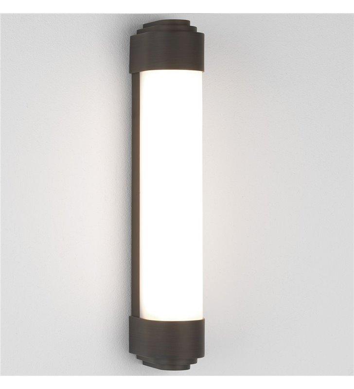 Brązowy LEDowy wysokiej jakości kinkiet łazienkowy Belgravia 40cm montaż pionowy lub poziomy