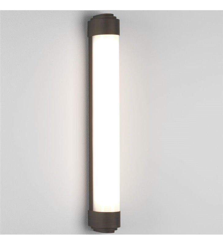 Kinkiet łazienkowy Belgravia 60cm brązowy montaż pionowy lub poziomy