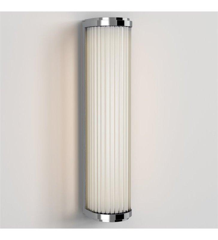 Versailles chromowana ścienna lampa łazienkowa do oświetlenia lustra
