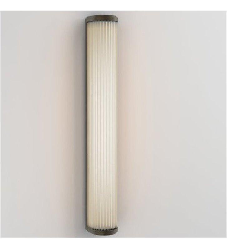 Brązowy 60cm kinkiet łazienkowy Versailles szklany klosz