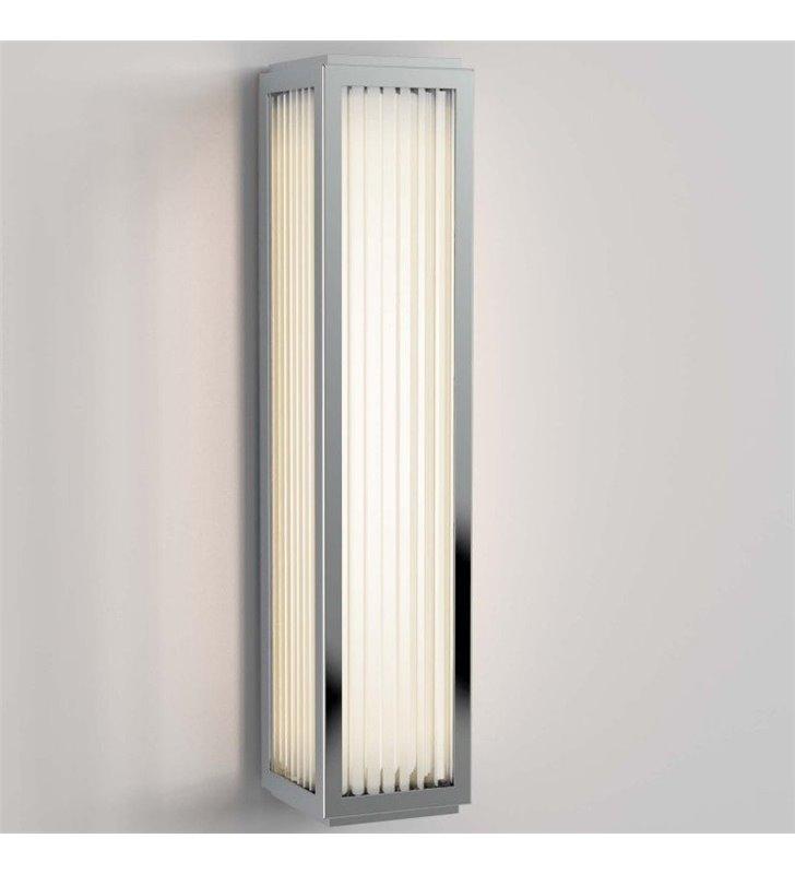 Chromowany kinkiet łazienkowy Boston prostokątny LED