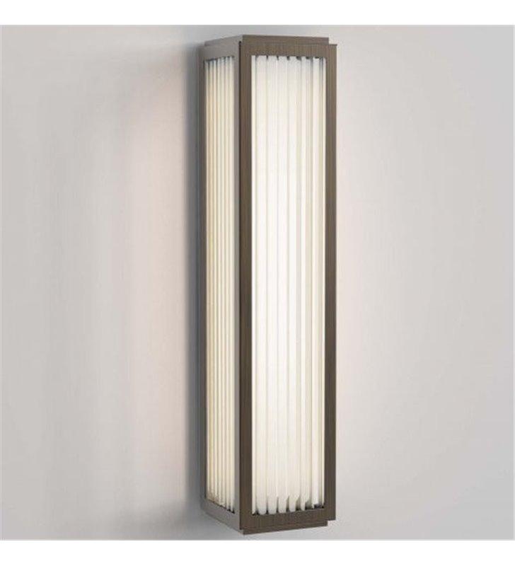 Kinkiet łazienkowy Boston LED prostokątny brąz