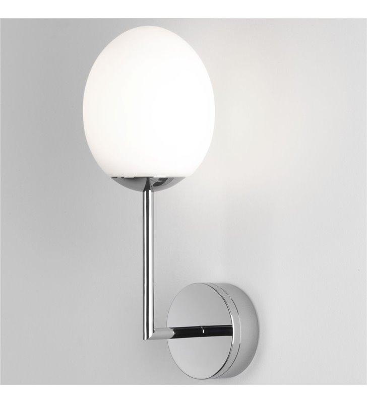 Lampa ścienna do łazienki Kiwi chrom szklany klosz IP44