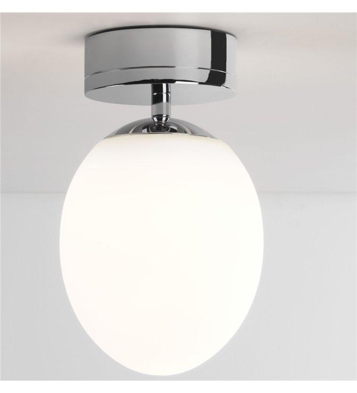 Mała lampa sufitowa do łazienki Kiwi chrom polerowany IP44 LED