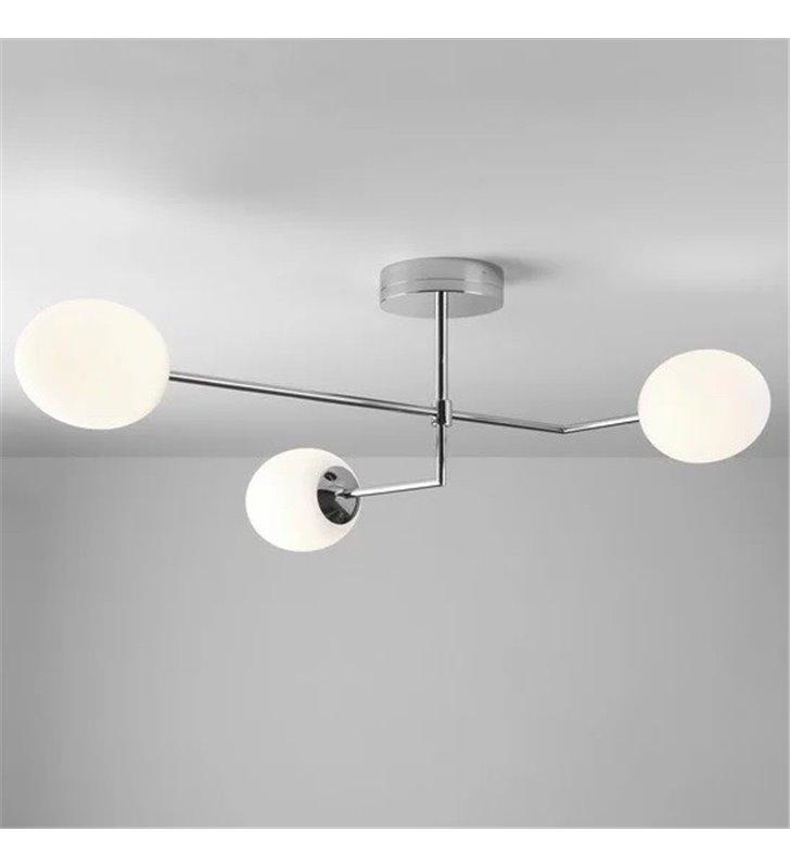 Potrójna lampa sufitowa do łazienki żyrandol łazienkowy Kiwi chrom polerowany IP44 LED