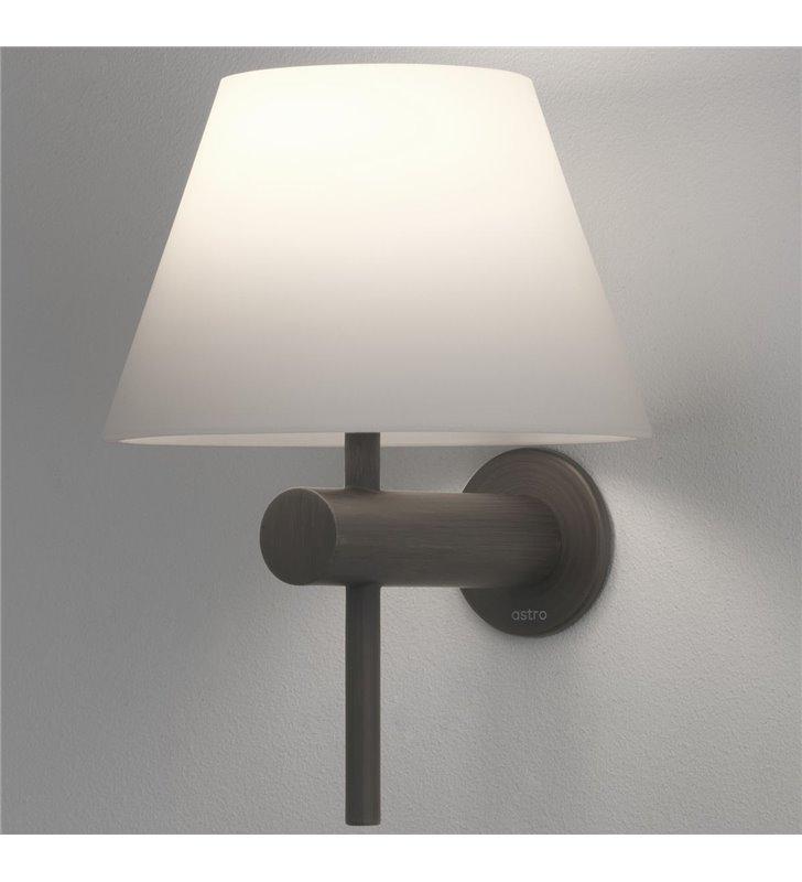 Brązowy klasyczny kinkiet do lustra w łazience Roma IP44