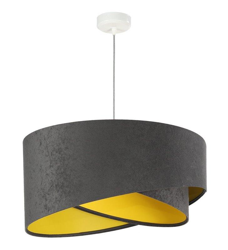 Szaro żółta abażurowa lampa wisząca Fidelia