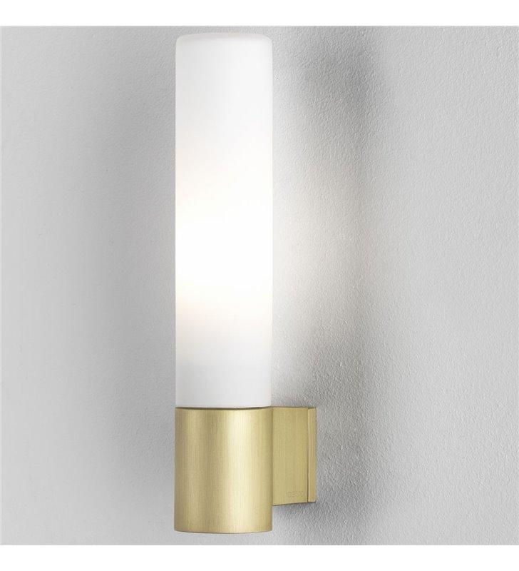 Kinkiet do łazienki oświetlający lustro Bari złoty mat IP44 możliwość ściemniania