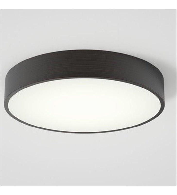 Okrągły brązowy 33cm plafon do łazienki Mallon LED