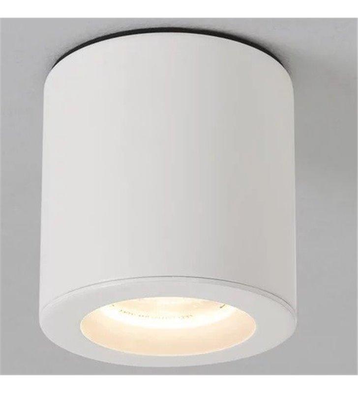 Biała okrągła lampa łazienkowa typu downlight Kos Round ściemnialna IP65