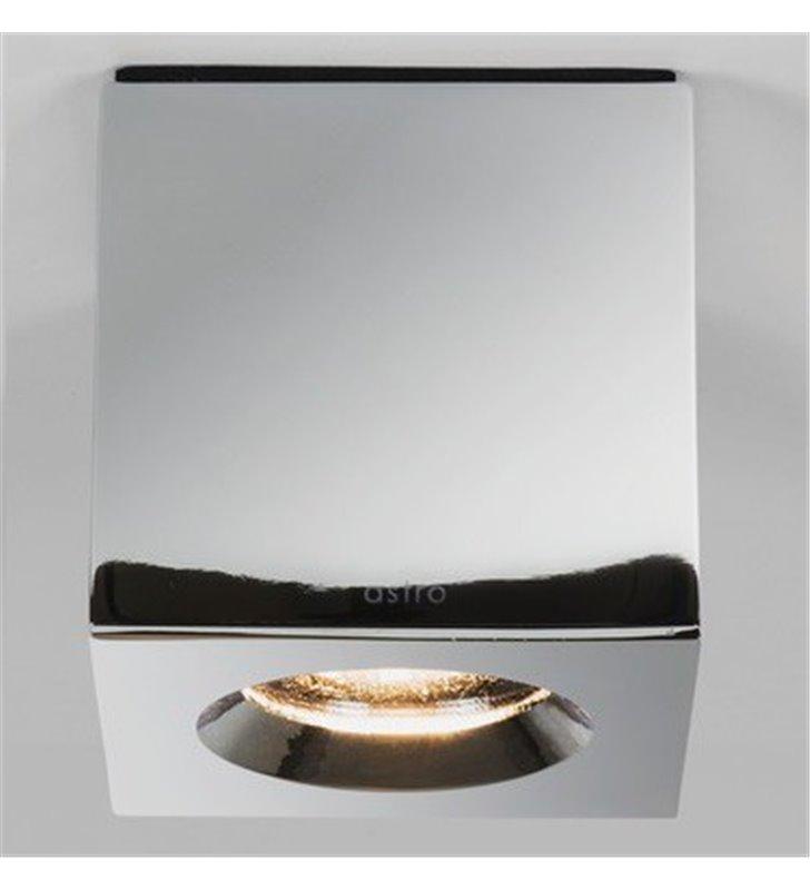 Chromowana kwadratowa lampa łazienkowa downlight Kos Square ściemnialna IP65
