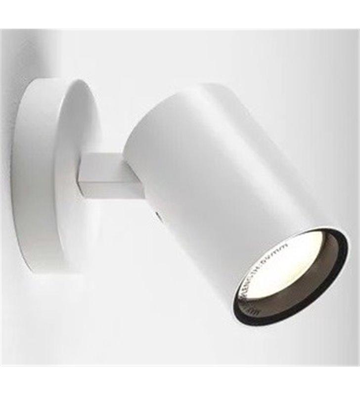Biała lampa łazienkowa ścienno sufitowa Aqua IP44 ruchomy klosz