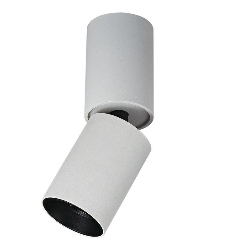 Biała ruchoma lampa sufitowa downlight Lunaro